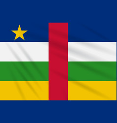 Flag central african republic swaying in the wind vector
