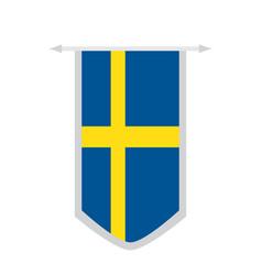 flag of sweden on a banner vector image