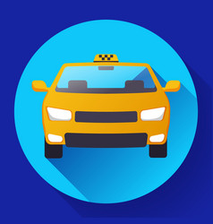 flat taxi car icon design vector image