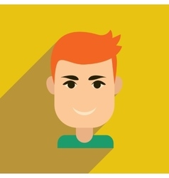 Flat web icon with long shadow men s haircut vector