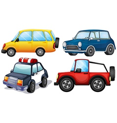Four different cars vector image