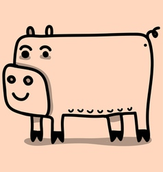 funny pig vector image vector image