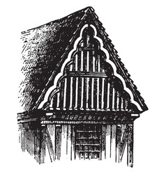 Gable structural system vintage engraving vector