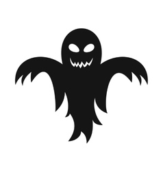 Ghost icon in simple style vector image