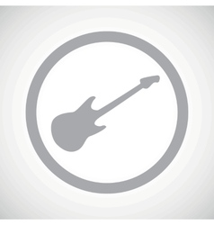 Grey guitar sign icon vector