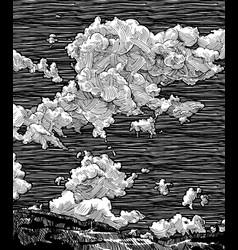 hand drawn sky vector image