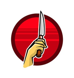 Holding knife vector