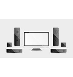 Home cinema system vector