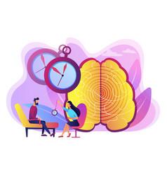 Hypnosis practice concept vector