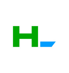 initial letter hl design logo vector image