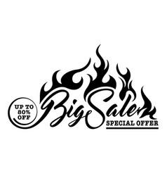 Inscription big sale vector