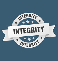 Integrity ribbon integrity round white sign vector
