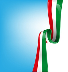 Italian ribbon flag vector