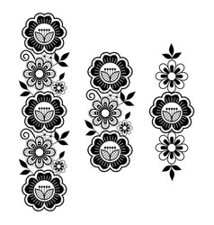 Lace long pattern set vertical design vector