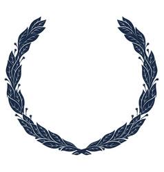laurel wreath vintage wreath greek laurel vector image