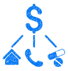 Life expenses grunge icon vector