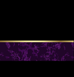 Lovely purple marble background with gold vector