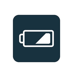 Low battery icon Rounded squares button vector