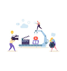 Making movie video production concept television vector
