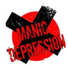 Manic depression rubber stamp vector