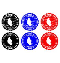 Melilla rubber stamp vector