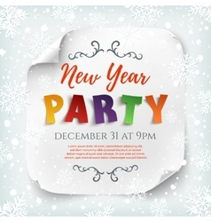 New Year party poster template vector image