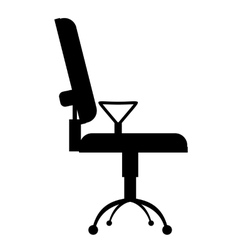 Office chair simple icon vector
