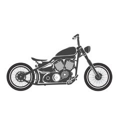 Old vintage bobber bike cafe racer theme vector