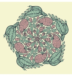 Paisley and floral pattern vector image