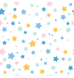 Pattern multicolor stars vector