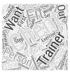 Personal trainer Word Cloud Concept vector