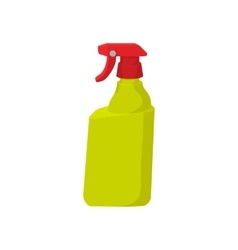 Plastic hand spray bottle cartoon icon vector image