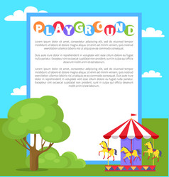 playground park poster text vector image