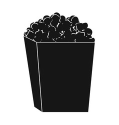 Popcorn in a blue box food for an amusement park vector