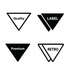 Price tags label set triangle design vector