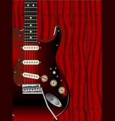 Quality wood guitar vector