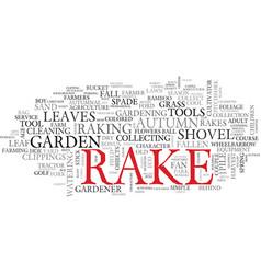 rake word cloud concept vector image