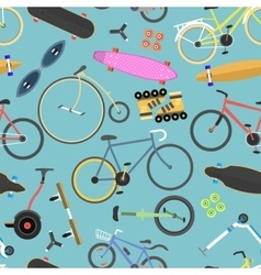Retro bike seamless pattern background vector image