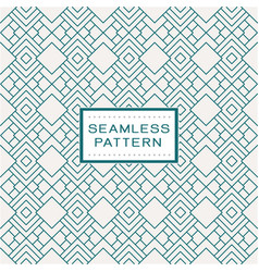 retro seamless pattern with simple line geometric vector image