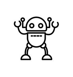 Robot space technology character artificial vector