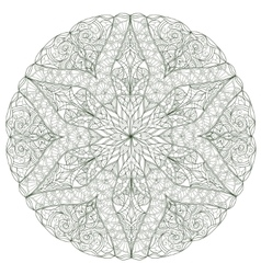Round Mandala with hand-drawn decorative elements vector