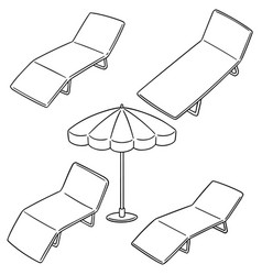 set of beach bed vector image
