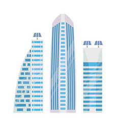 skyscraper and solar batteries vector image