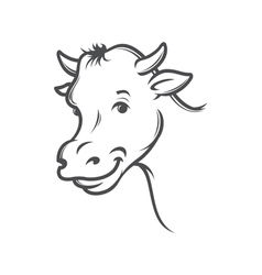 Smiling cow vector