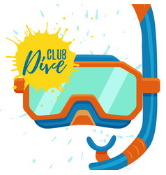 Snorkeling and diving center logo vector