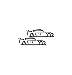 sports cars icon element of racing for mobile vector image
