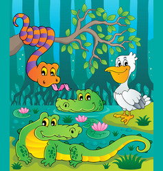 Swamp theme image 1 vector