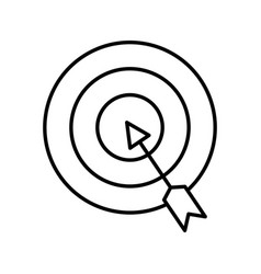 target with arrow isolated icon vector image