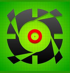 Targetmark crosshair reticle on green gridded vector
