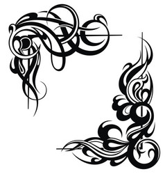 tattoo frame elements vector image